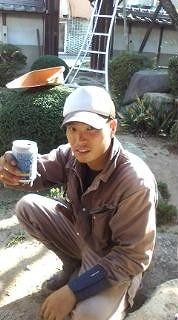 名前:小林 幸平 2級造園施工管理 松の剪定はメンバー1! 外構部隊でもあります
